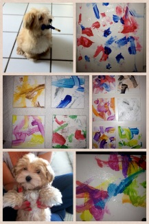 Key Biscayne Pet Training- Dog Painter and his paintings